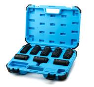 Capri Tools 3/4-Inch Drive Deep Impact Socket Set, SAE, CrMo, 8-Piece