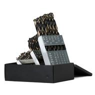 Capri Tools Heavy Duty Cobalt Drill Bit Set, Jobber Length with Index Box, 29-Piece