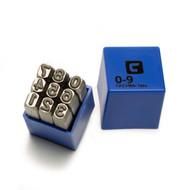 Capri Tools Professional 1/4 in. Number Stamp Set, 9-Piece