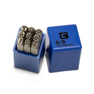 Capri Tools Professional 1/8 in. Number Stamp Set, 9-Piece