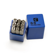 Capri Tools Professional 3/16 in. Number Stamp Set, 9-Piece