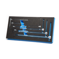 Capri Tools Sliding T-Handle Hex Wrench Set with Mechanic's Tray, 8-Piece