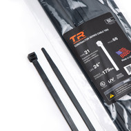 """TR Industrial Contractor Series UV Cable Ties (50-Piece), 24"""", Type 21S, Made in USA"""