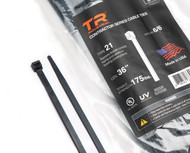 """TR Industrial Contractor Series UV Cable Ties (50-Piece), 36"""", Type 21S, Made in USA"""