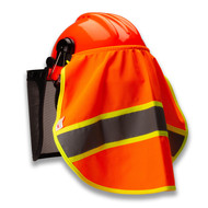 TR Industrial Neck Shade for Forestry Safety Helmet, Knitted with 3M Reflector, Breathable 100% Polyester Fabric