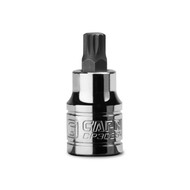 Capri Tools 8 mm M8 Stubby XZN Triple Square Bit Socket, 3/8-Inch Drive