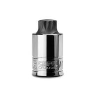 Capri Tools 18 mm MT18 Stubby XZN Triple Square Bit Socket, 1/2-Inch Drive
