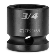 Capri Tools 3/4 in. Stubby Impact Socket, 1/2 in. Drive, 6-Point, SAE