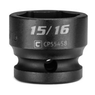 Capri Tools 15/16 in. Stubby Impact Socket, 1/2 in. Drive, 6-Point, SAE