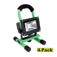 Capri Tools 10W LED Shop Light, Lithium-Ion Rechargeable Battery, Pack of 4