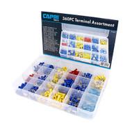 Capri Tools 360-Piece Electrical Terminal Assortment Set