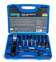 Capri Tools Chisel and Punch Set with Removable Handle, Fits Air Hammer, 13-Piece