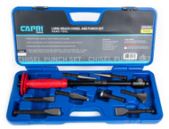 Capri Tools Chisel and Punch Set with Long Handle, 8-Piece Set