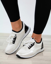 Kate White Casual Lace Up Trainers