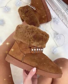 Amaya Camel Winter Style Boots