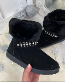 Amaya Black Winter Style Boots