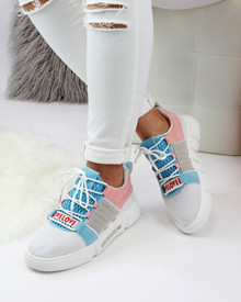 Debbie Pink Chunky Pull On Trainers