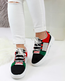 Debbie Black Chunky Pull On Trainers