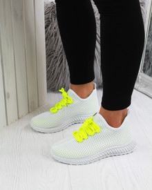 Runway Affair Sock Trainers In Yellow