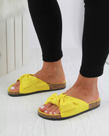 Resort Plan Bow Flatform Sliders In Yellow