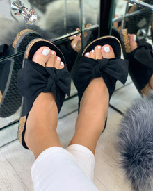 Resort Plan Bow Sliders In Black