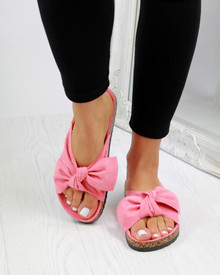 Resort Plan Bow Flatform Sliders In Coral