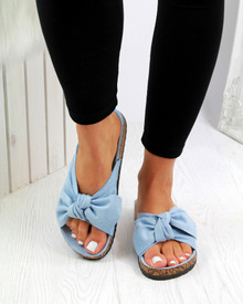 Resort Plan Bow Flatform Sliders In Blue