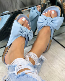 Resort Plan Bow Sliders In Blue
