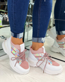 Kailey Sock Chunky Trainers In Pink