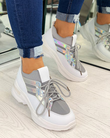 Kailey Sock Chunky Trainers In Grey