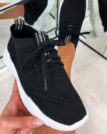 Chase The Sun Slip On Sock Trainers In Black