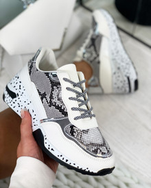 Collins Chunky Lace Up Trainers In White