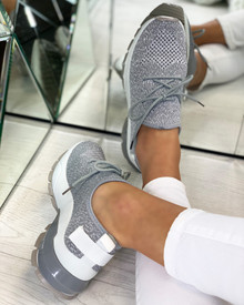 Aitana Knitted Trainers in Grey