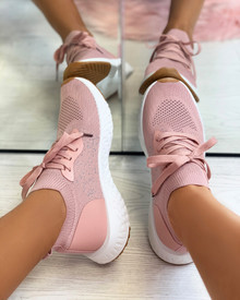 Taliyah Knitted Sock Trainers in Pink