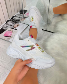 Tinley Chunky Sole Trainers in White