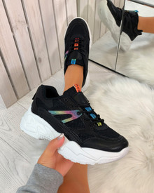 Tinley Chunky Sole Trainers in Black