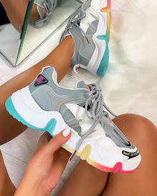 Clio Chunky Trainers in Grey