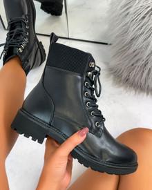 Lilis Biker Boots in Black