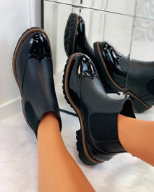 Kaila Chelsea Ankle Boots in Black