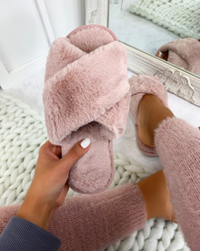 Teddy Soft Crossover Sleepers in Dusky Pink