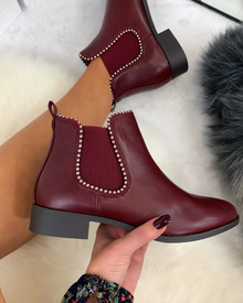 Alena Chelsea Ankle Boots in Wine