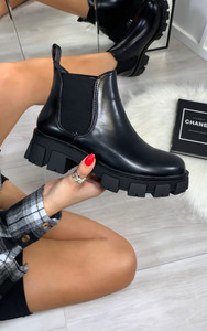 Logan Chelsea Ankle Boots in Black
