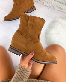 Thais Suedette Ankle Boots in Chestnut