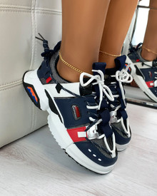 Montana Chunky Trainers in Navy Blue