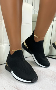 Rhea Sock Trainers in Black / White