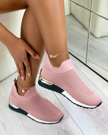 Rhea Sock Trainers in Pink