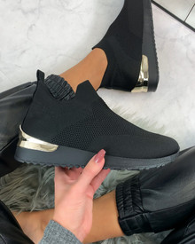 Rhea Sock Trainers in Black