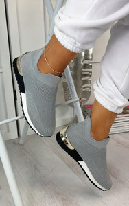 Rhea Sock Trainers in Grey