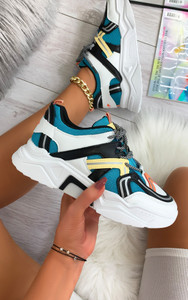 Pallavi Chunky Sole Trainers in Blue