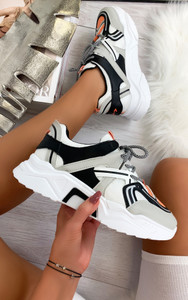Pallavi Chunky Sole Trainers in Grey